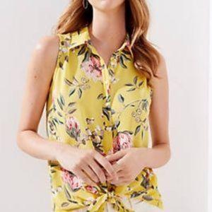 NWT Loft floral sleeveless top